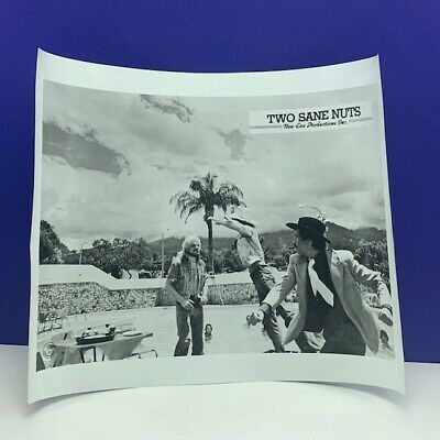 Lobby Card movie theater poster photo vintage 1974 Two Sane Nuts 2 cowboy pool