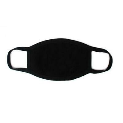 1PC Unisex Black Mask Soft Cotton Winter Breathing Mask Anti-Dust Earloop Mouth
