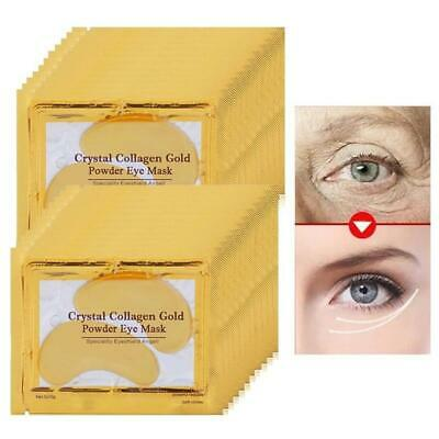 16pc=8pair 24K Gold Eye Mask for Face Mask Dark Circles Remover Crystal Collagen