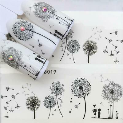 2019 Flying Dandelion Nail Art Water Decals Transfer Sticker Manicure Nail Decor