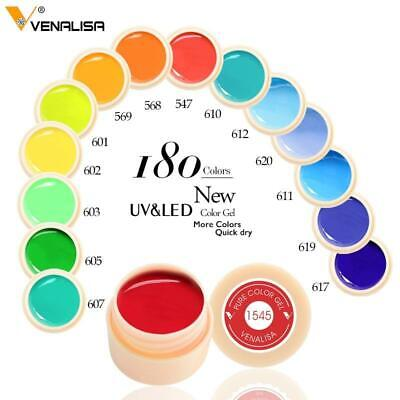 Venalisa New 2019 Manicure Nail Art Tips 180 Color UV LED Soak Off Gel Lacquer P