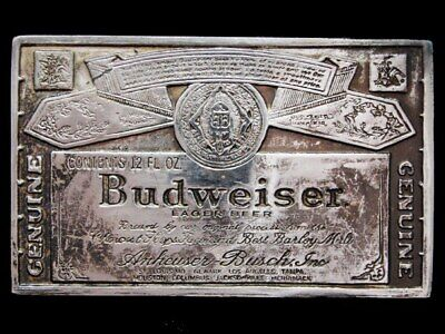 KD21149 GREAT VINTAGE 1970s ***GENUINE BUDWEISER LAGER BEER*** BELT BUCKLE