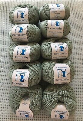 Elsebeth Lavold yarn Blue Pine Green Hempathy #28:
