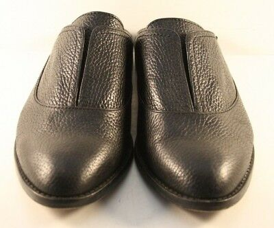 be5b0c60e56 LOUISE ET CIE Black Pebbled Leather Freyda Oxford Mules Flats US 9M ...