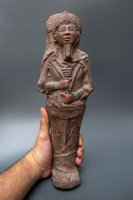 ANCIENT EGYPTIAN STATUE ANTIQUE Shabti PTAH MUMMY EGYPT Carved Stone 3000 BC