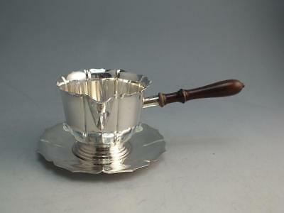 Vintage Lunt Early Dublin Sterling Silver Gravy Sauce Boat With Underplate 743-D