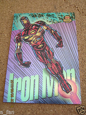 Marvel Universe Powerblast #  7 Iron Man - Tom Morgan art - 1994 Fleer         Z