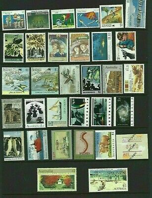 MINT AUSTRALIAN SPECIMEN STAMP COLLECTION x 32 DIFFERENT ISSUES MUH