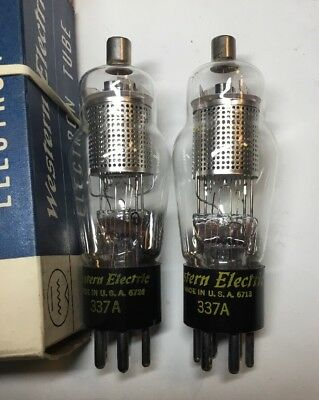 Pair Tube Type 337A Western Electric 1967 NIB Same Size Of 310A 348A