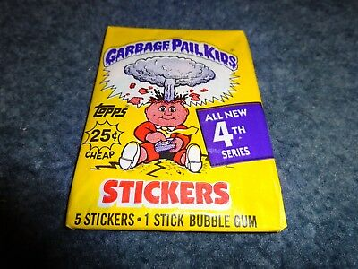1986 Garbage Pail Kids Original Series 4 Wax Pack from Box!