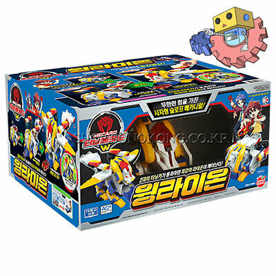 Turning Mecard Wing Lion Transform Action Roboy Toy Figure Anime Character