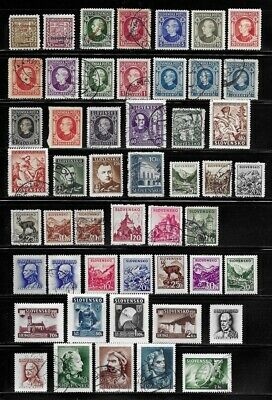 Collection of Old Stamps from Slovakia - - - - - - - - - (2 pages)