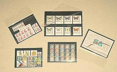 1000 Lighthouse A6/C6 Approval Cards stockcards with 4 clear strips black