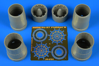 AIRES 4751 Exhaust Nozzles for Hobbyboss® Kit Su-27 Flanker B in 1:48