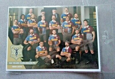 "Harlequins Rugby Greetings Card 8½ X 6"" 150 Years 1866-2016 Brand New /sealed"