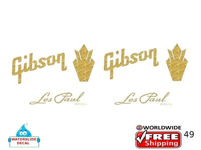 Gibson Guitar Decal Headstock Sticker Inlay Decal Restoration Logo 49