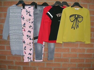 NEXT GAP H&M etc Girls Bundle Skinny Jeans Tops Jumper Dress Age 6-7 122cm