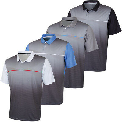 Island Green Mens 2019 Golf IGTS1853 Sublimated Stripe Polo Shirt 43% OFF RRP