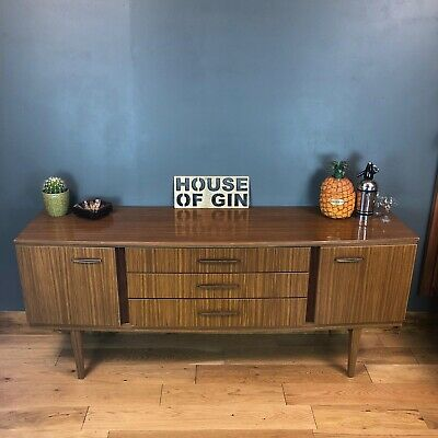 Retro 1960s Sideboard Cocktail Cabinet Credenza Rare Beautility Mid Century
