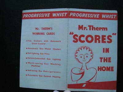 """Progressive Whist Card - MR THERM """"Scores in the Home"""" Unused"""
