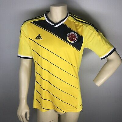 9c211f5ae32 ADIDAS COLOMBIA SOCCER Climacool Futbol Jersey World Cup 2014 Adult ...