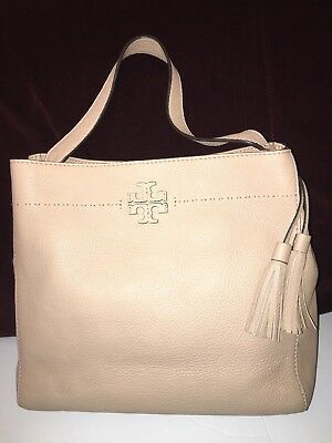 1d622d33e31 Tory Burch McGraw Hobo color Devon Sand Leather with Tassel Listed  485