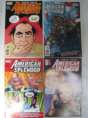 AMERICAN SPLENDOR by HARVEY PEKAR :COMPLETE 4 ISSUE SERIES + CORBEN,EMERSON.2006