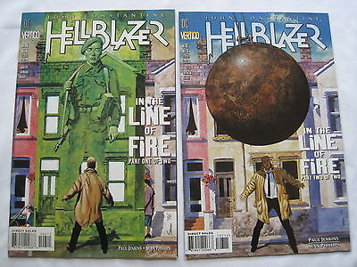 """Hellblazer 106,107 """"in The Line Of Fire"""" :complete 2 Part Constantine Story.1996"""