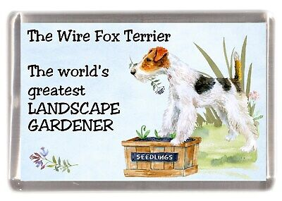 "Fox Terrier Dog Fridge Magnet /""THE MORE I LOVE MY DOG/""  by Starprint Smooth"