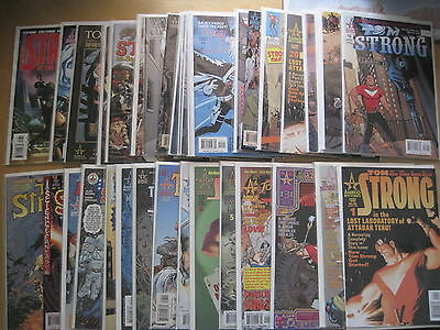 TOM STRONG : COMPLETE 36 ISSUE SERIES by ALAN MOORE, ADAMS, JOHNS etc. ABC.1999