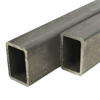 vidaXL 2x Structural Steel Tubes Rectangular Box Section 1m 60x40x3mm Bar