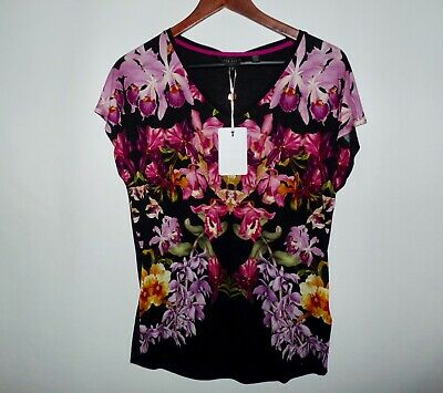eb58eed04c8510 TED BAKER LONDON White Pippie Tranquility Fitted Tee Top Size 2 (US ...