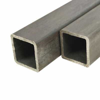vidaXL 2x Structural Steel Tubes Square Box Section 1m 80x80x2mm Hollow Pipe