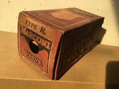 One R Vintage Antique Old Radio Valve Tube New In Box Early UK British Marconi