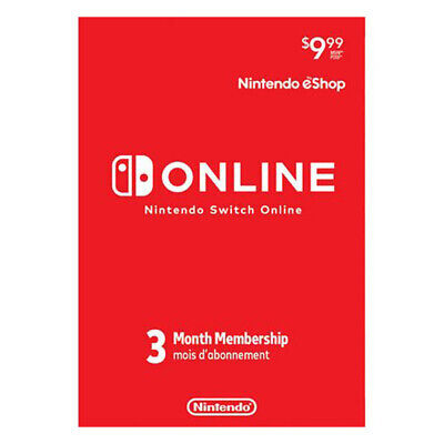 Nintendo Switch Online 3 Month Membership Subscription Pre-Paid Card