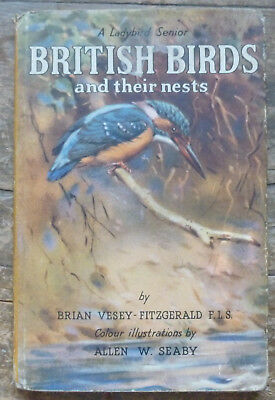 British Birds and their nests Ladybird Senior 5th Ed 1954 with Dust Jacket