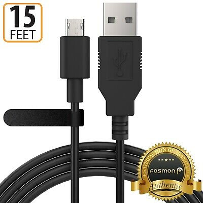 Fosmon 15FT USB Cable Charger Quick Fast Charging Cord for Samsung Huawei Xiaomi