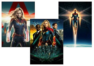 Marvel Comics: Captain Marvel  A5 A4 A3 Textless Movie Poster