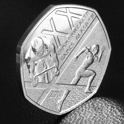 Rare 50p common wealth glasgow coin in very good condition.