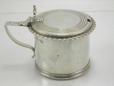 Antique William IV 925 sterling silver mustard pot A B Savory & Sons London 1833