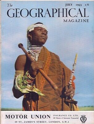 the geographical magazine-JULY 1953-A XHOSA WARRIOR.
