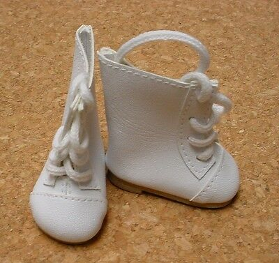 "P91 Toni DOLL Shoes 54mm WHITE Lace-up Boots 13/"" Patsy Lenny"