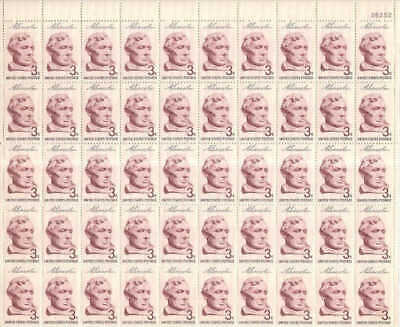 US Stamp - 1959 3c Lincoln Sesquicentennial - 50 Stamp Sheet #1114