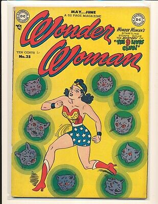 Wonder Woman # 35 VG/Fine Cond. top staple detached from cover