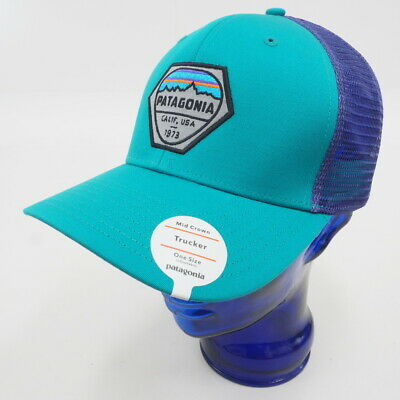 NEW! PATAGONIA FITZ Roy Hex Trucker Hat Adjustable (Blue Purple ... 59eef0794886