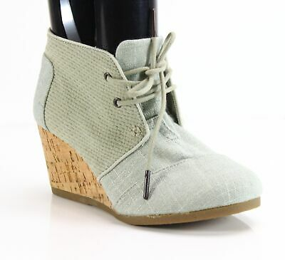 511a989beb3 TOMs NEW Blue Brown Women s Size 6M Desert Wedge Lace Up Booties  88-  745