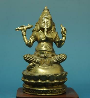 chian Tibet old Hand carving copper collection Geneisha Buddha statue /02 d01