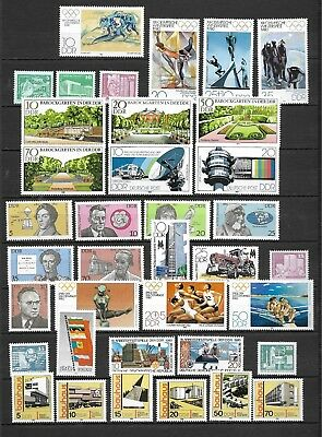 East-Germany/GDR/DDR: All stamps of 1980 in a year set complete, MNH