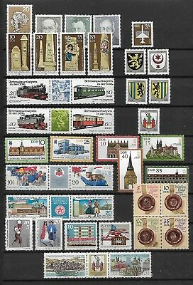 East-Germany/DDR/GDR: All stamps of 1984 in a year set complete, MNH