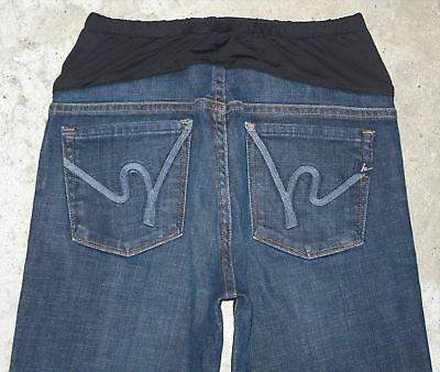 Citizens of Humanity Maternity Bootcut Jeans Sz 28 w Stretch Dark Distressed
